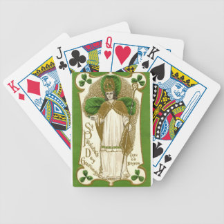 Beautiful saint patrick old poster bicycle playing cards