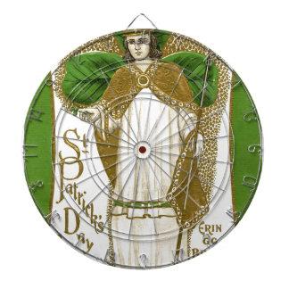 Beautiful saint patrick old poster dartboard