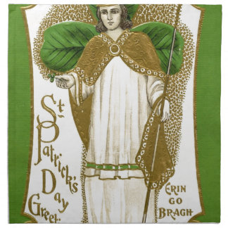 Beautiful saint patrick old poster napkin