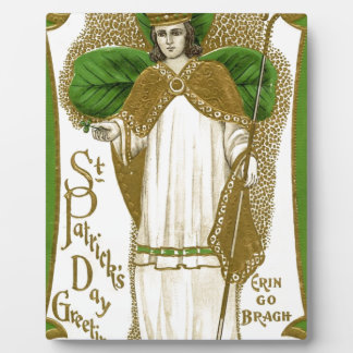 Beautiful saint patrick old poster plaque
