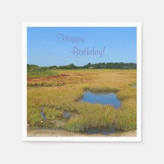 Beautiful Salt Water Marsh Disposable Napkins