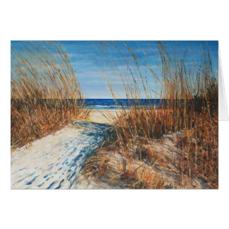Beautiful Sand Dunes Beach Painting Greeting Cards