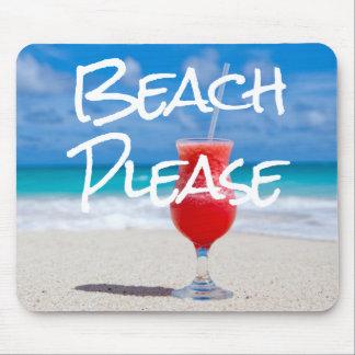 Beautiful Sandy Beach Please Red Daiquiri Drink Mouse Pad