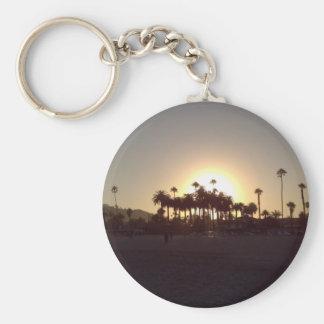 Beautiful Santa Barbara beach sunset Basic Round Button Key Ring