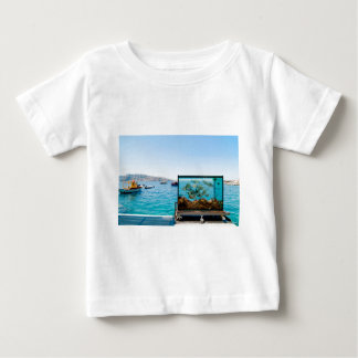 Beautiful Santorini sea view Baby T-Shirt