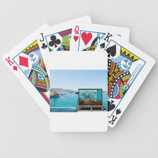 Beautiful Santorini sea view Bicycle Playing Cards