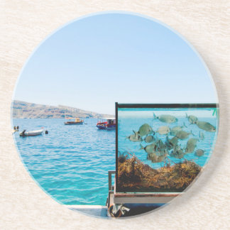 Beautiful Santorini sea view Coaster