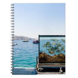 Beautiful Santorini sea view Notebooks