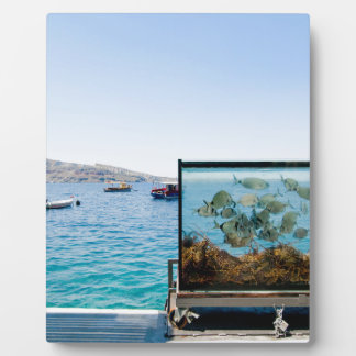 Beautiful Santorini sea view Plaque
