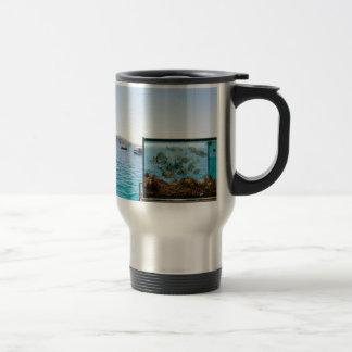 Beautiful Santorini sea view Travel Mug