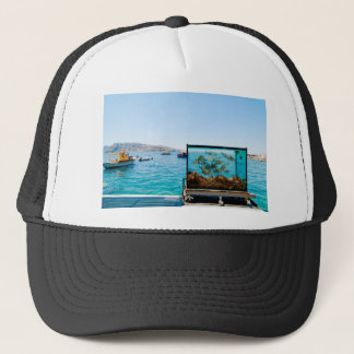 Beautiful Santorini sea view Trucker Hat