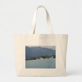 Beautiful scenery at shore of Lake Thun Tote Bag