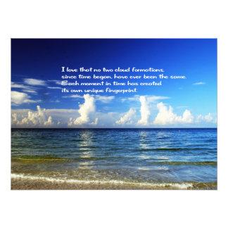 Beautiful scenic photo print with inspirational
