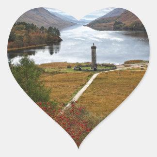 Beautiful Scotland Heart Sticker
