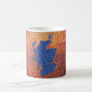 Beautiful Scotland mosaic art mug
