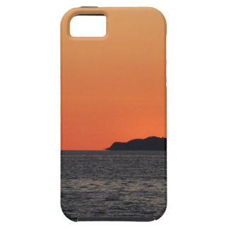 Beautiful sea sunset with island silhouette iPhone 5 covers