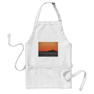 Beautiful sea sunset with island silhouette standard apron