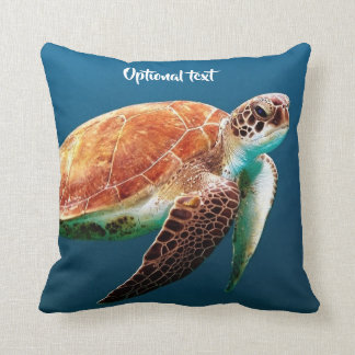 Beautiful Sea Turtle Swimming Cushion