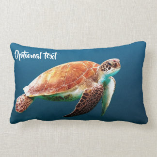 Beautiful Sea Turtle Swimming Lumbar Cushion