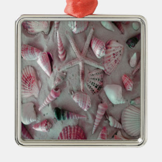 Beautiful Seashells Metal Ornament