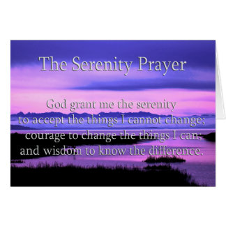 beautiful serenity prayer card