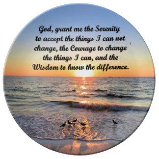 BEAUTIFUL SERENITY PRAYER DECORATIVE PLATE
