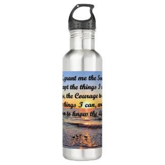 BEAUTIFUL SERENITY PRAYER WATER BOTTLE