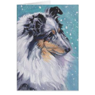 Beautiful Sheltie Shetland Sheepdog Fine Art Card
