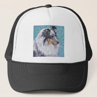 Beautiful Sheltie Shetland Sheepdog Fine Art Trucker Hat