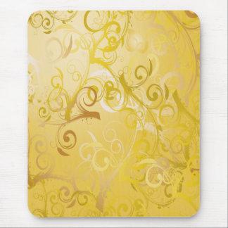Beautiful Shining Golden Swirls Mousepads