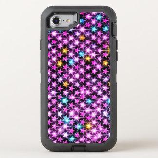 beautiful shiny stars OtterBox defender iPhone 7 case