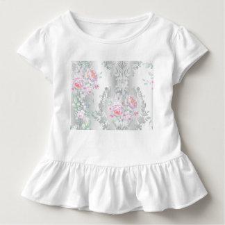 beautiful, silk,damask,pink,roses,vintage,wedding, toddler T-Shirt