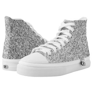Beautiful Silver glitter sparkles High Tops
