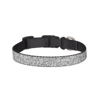 Beautiful Silver glitter sparkles Pet Collar