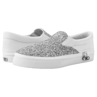 Beautiful Silver glitter sparkles Slip On Shoes