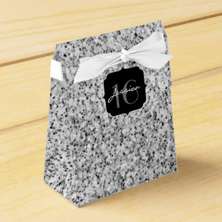 Beautiful Silver glitter sparkles Sweet 16 Favour Box