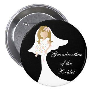 Beautiful, Simple, and Fun Bridal Party 7.5 Cm Round Badge