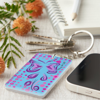 beautiful Single-Sided rectangular acrylic key ring