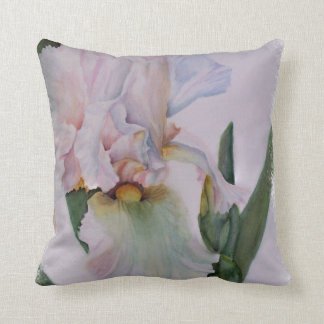 BEAUTIFUL SINGLE WHITE IRIS TOSS PILLOW