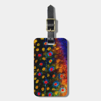 """Beautiful Skin, Brook Trout"" Luggage Tag"