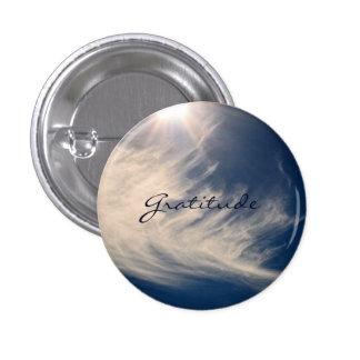 Beautiful Sky & Gratitude Inspires Custom 3 Cm Round Badge