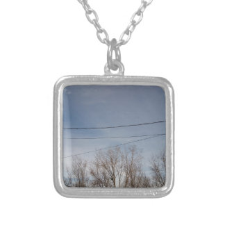 Beautiful sky silver plated necklace