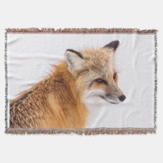 Beautiful Sly Fox Throw Blanket
