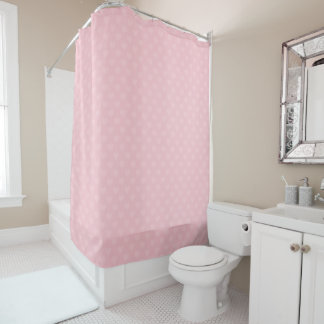 Beautiful Small Hearts on Shower Curtain