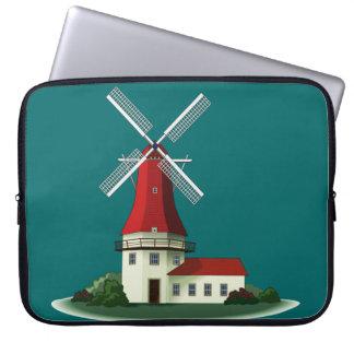 Beautiful Smock Windmill Laptop Sleeve