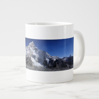 Beautiful Snow capped Mountains Scene Poster Large Coffee Mug