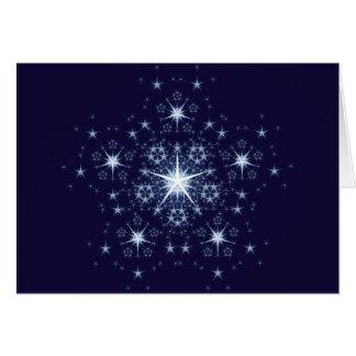 Beautiful snowflake for Christmas Greeting Card
