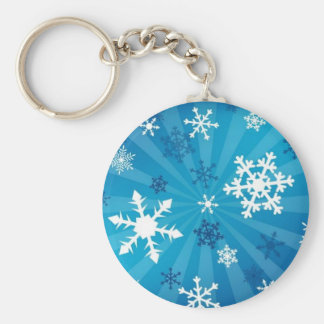 Beautiful Snowflakes Basic Round Button Key Ring