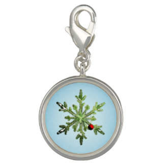 Beautiful Snowy Pine Snowflake Christmas