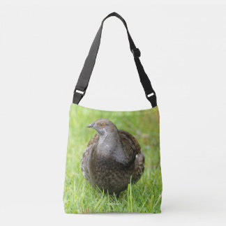 Beautiful Sooty Grouse in the Grass Crossbody Bag